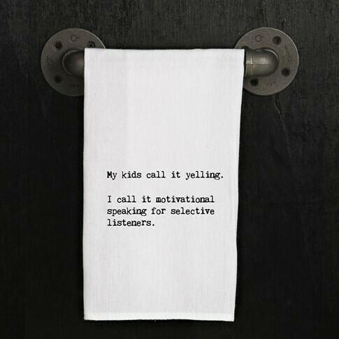 Motivational Speaking Towel