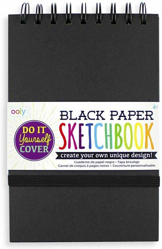 Black DIY Cover Sketchbook 5x7.5
