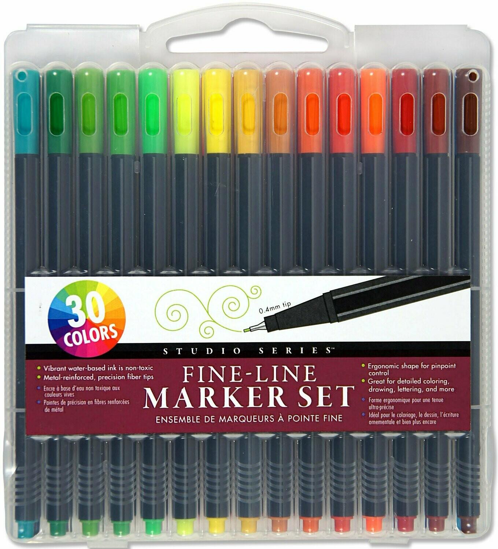 Studio Series Fine-line Markers - Set of 30