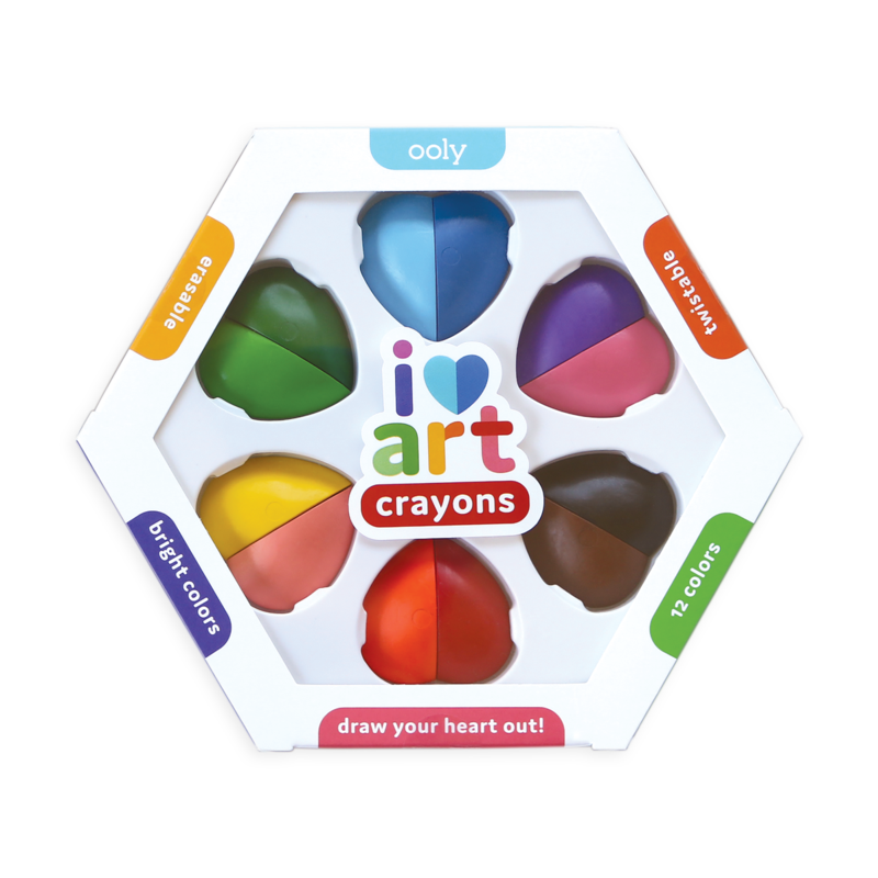I Heart Art Erasable Crayons - Set of 6
