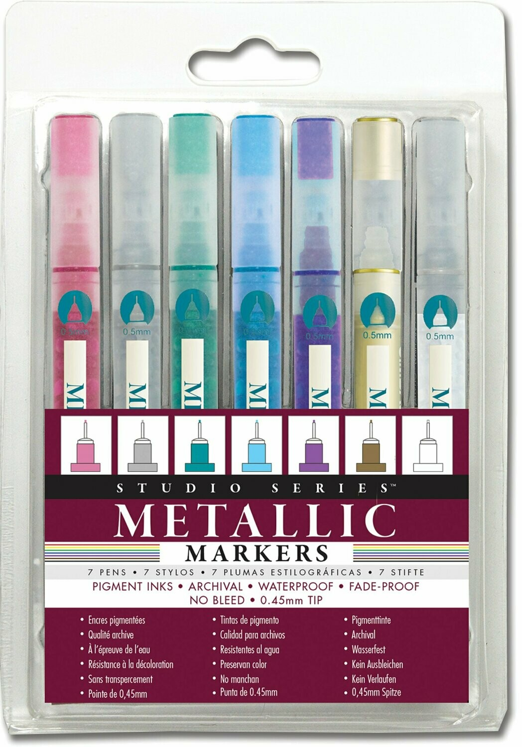 Studio Series Micro-line Metallic Markers - Set of 7