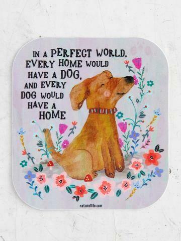 Perfect World Dog Vinyl Sticker