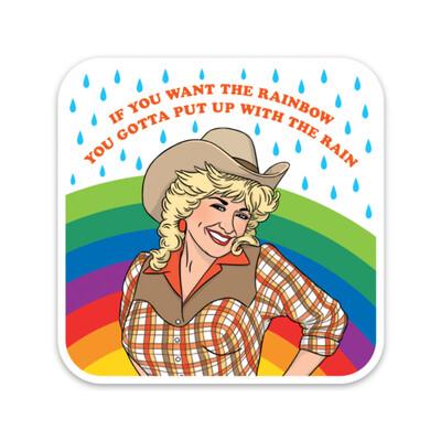 Dolly Rainbow Sticker