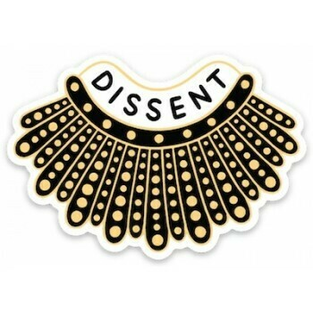 Die Cut Sticker: Dissent Collar