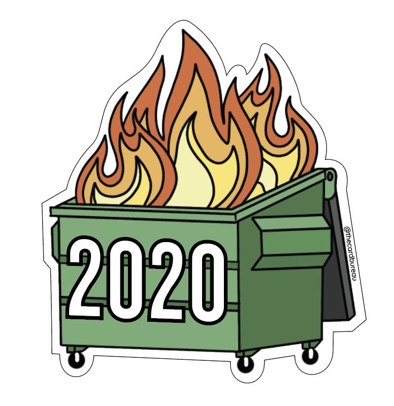 2020 Dumpster Fire Sticker