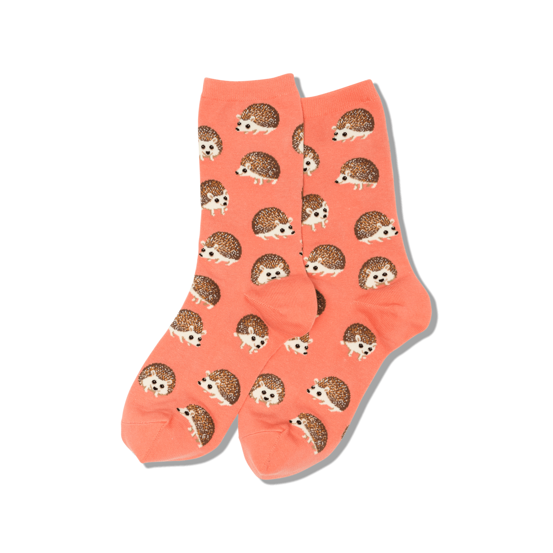 Hedgehog - Coral Womens Socks