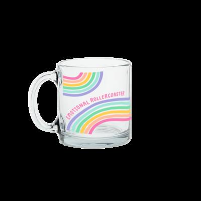 Emotional Rollercoaster Glass Mug