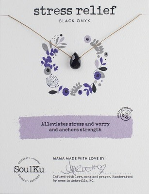 Soul-Full Necklace Black Onyx Stress Relief