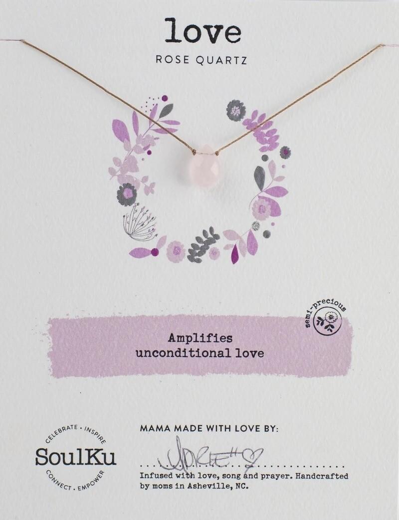 Soul-Full Necklace Rose Quartz Love