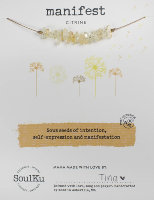 Seed Necklace Citrine Manifest