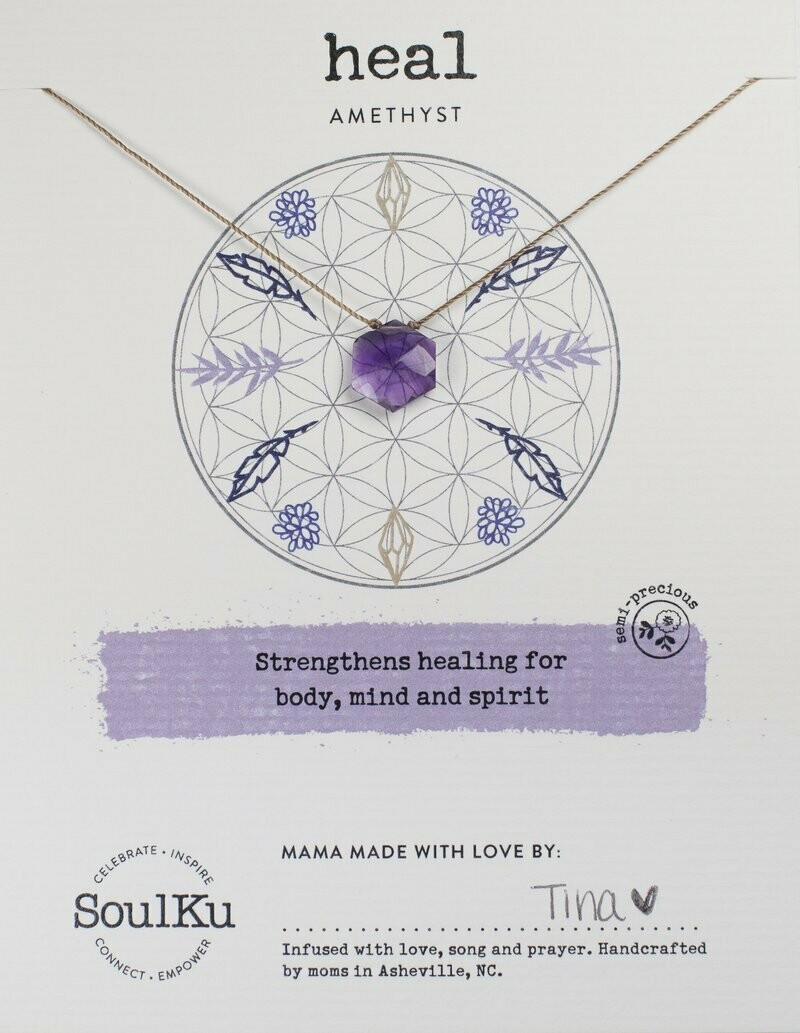 Sacred Necklace Amethyst Heal