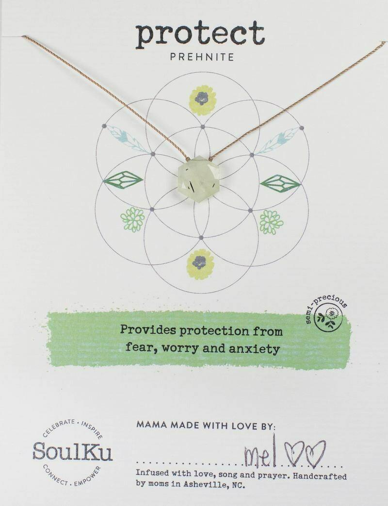 Sacred Necklace Prehenite Protect