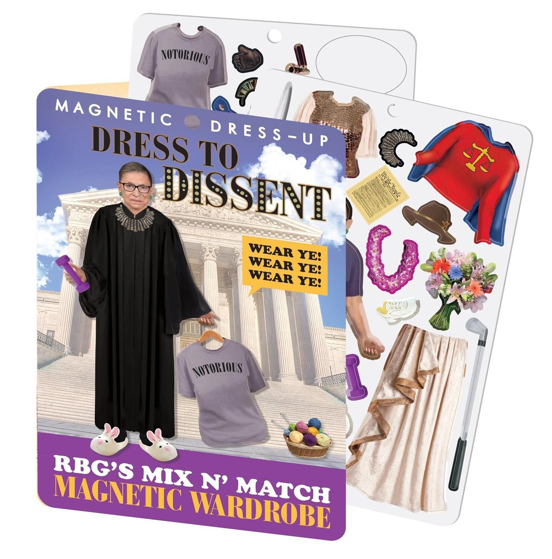 RBG Dress to Dissent Magnet Set