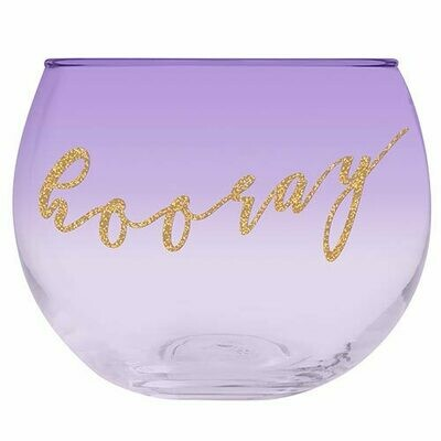 Roly Poly Glass - Hooray