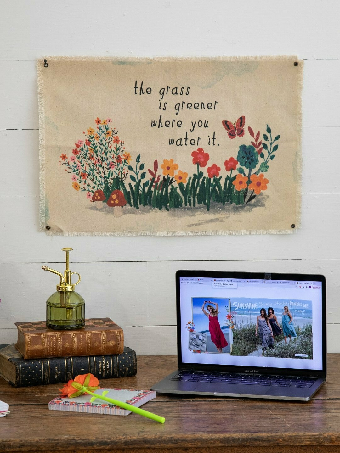 Grass Is Greener Canvas Tapestry