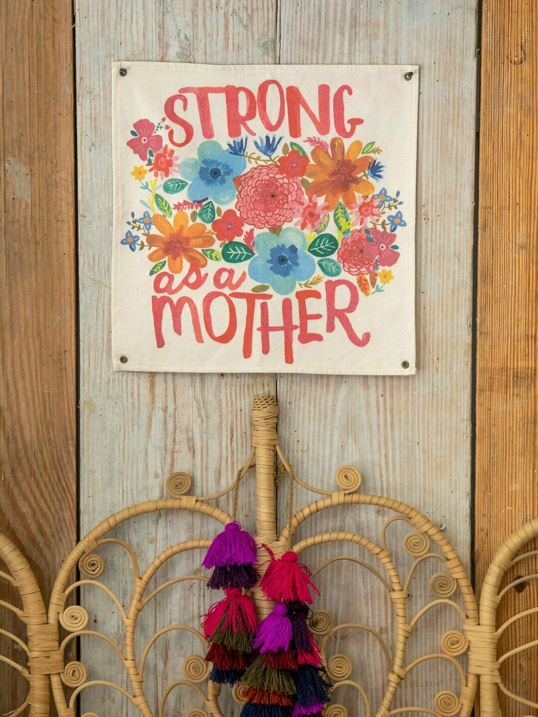 Strong As A Mother Mini Canvas Tapestry