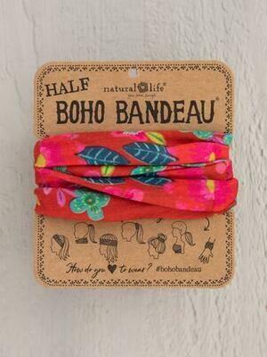 Red Floral Half Boho Bandeau
