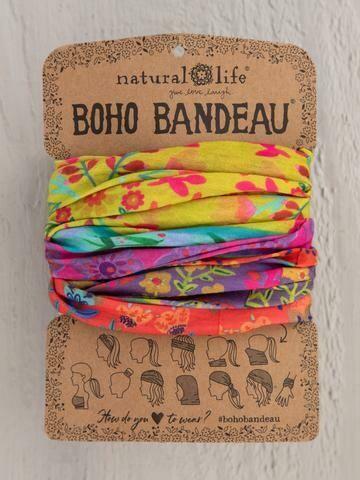Lime Purple Boarders Boho Bandeau