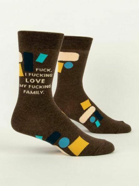 Fuck, I Love My Fucking Family Men's Socks