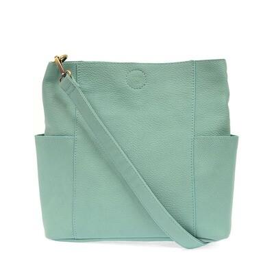 Turquoise Kaleigh Side Pocket Bucket Bag