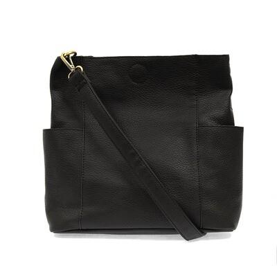 Black Kaleigh Side Pocket Bucket Bag