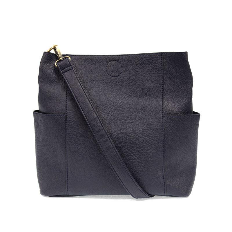 Navy Kaleigh Side Pocket Bucket Bag