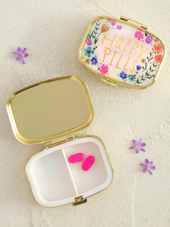 Happy Pills Floral Pill Box