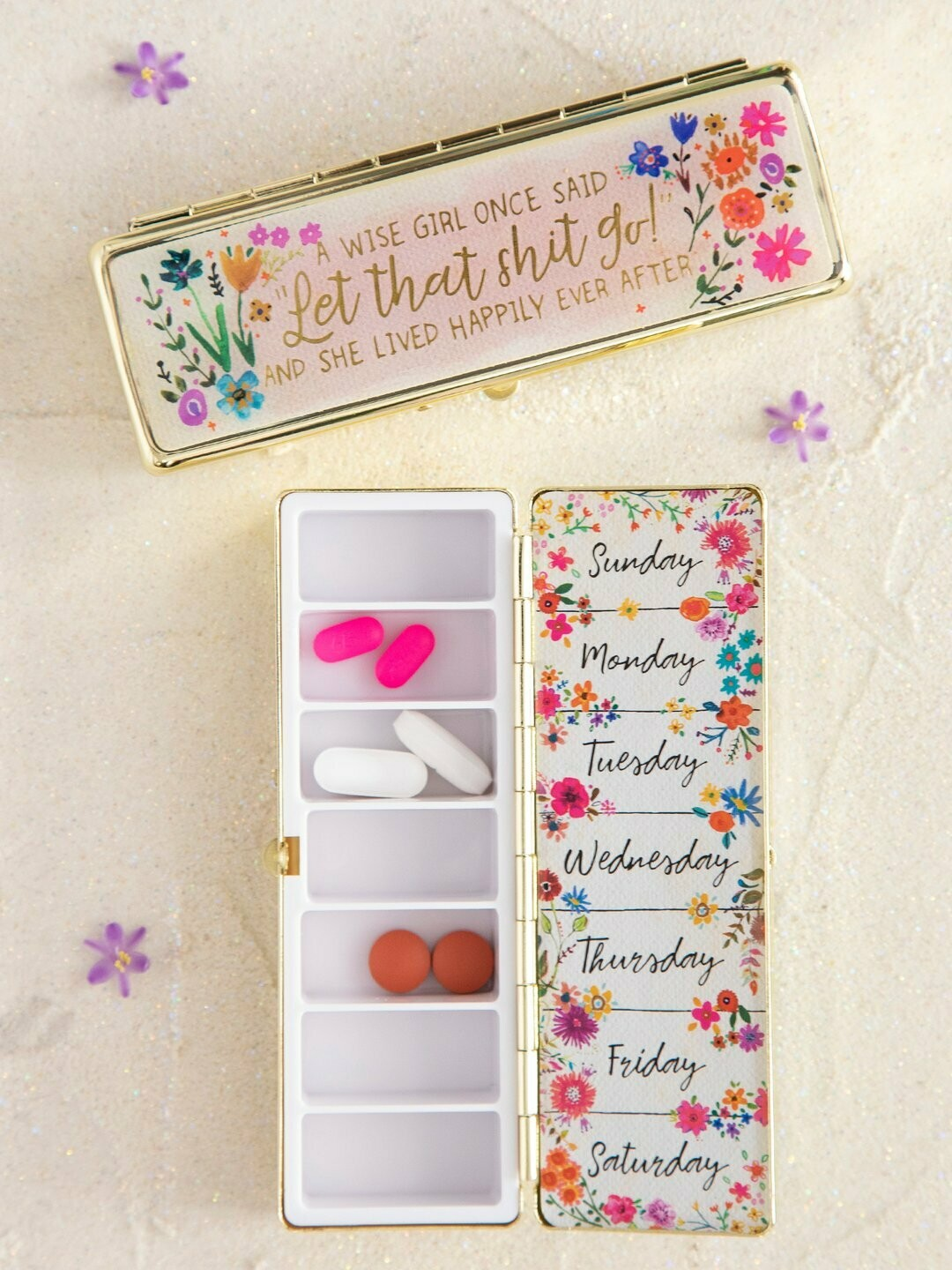 Wise Girl Daily Pill Box