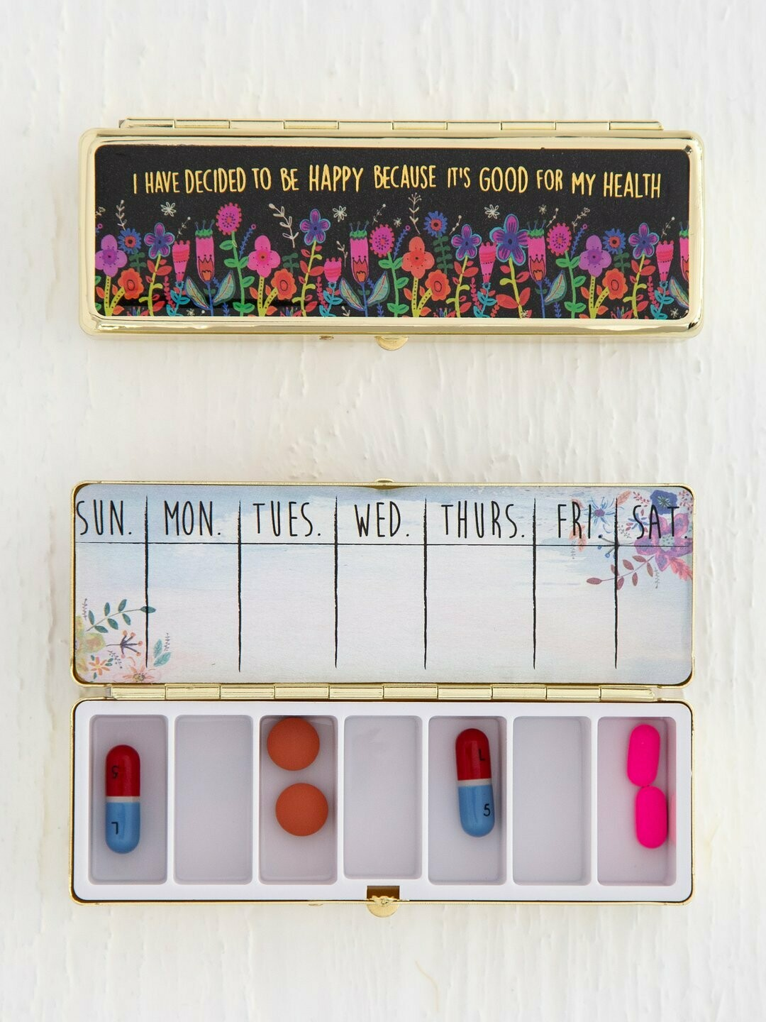 Decide To Be Happy Daily Pill Box