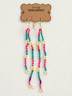 Daisy Chain Earrings Pink
