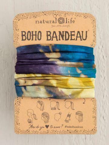 Blue Multi Tie-Dye Boho Bandeau