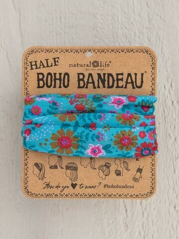 Light Blue Floral Mandala Half Boho
