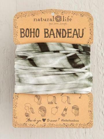 Olive Tonal Tie-Dye Boho Bandea