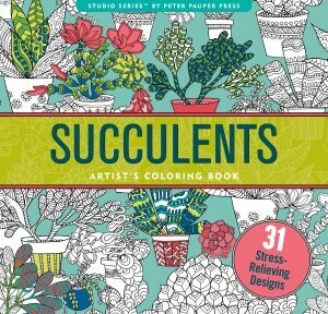Succulents Adulet Coloring Book