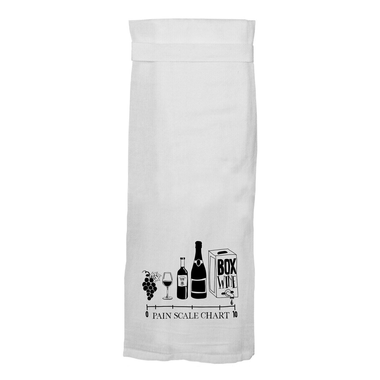 Wine Pain Scale Towel