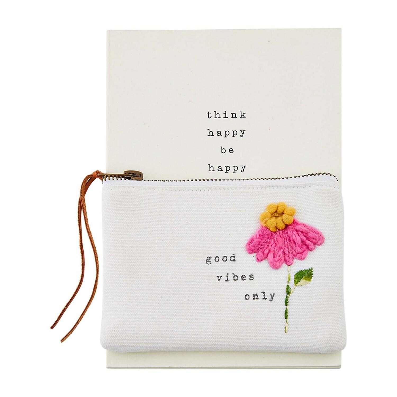 Good Vibes Notebook Pouch Set