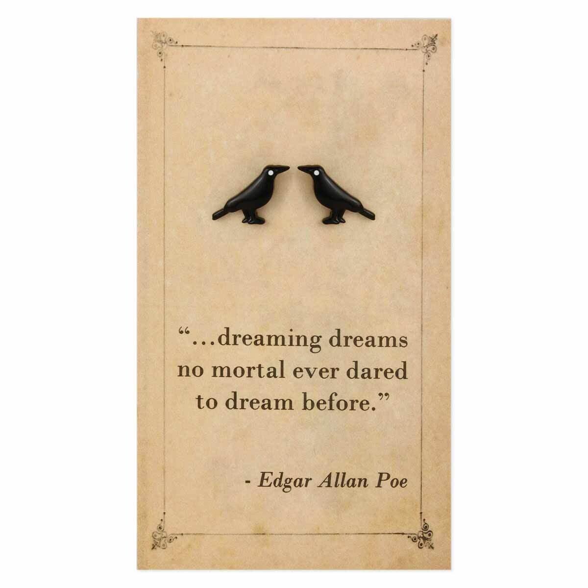 BK Raven Literary Post Earring