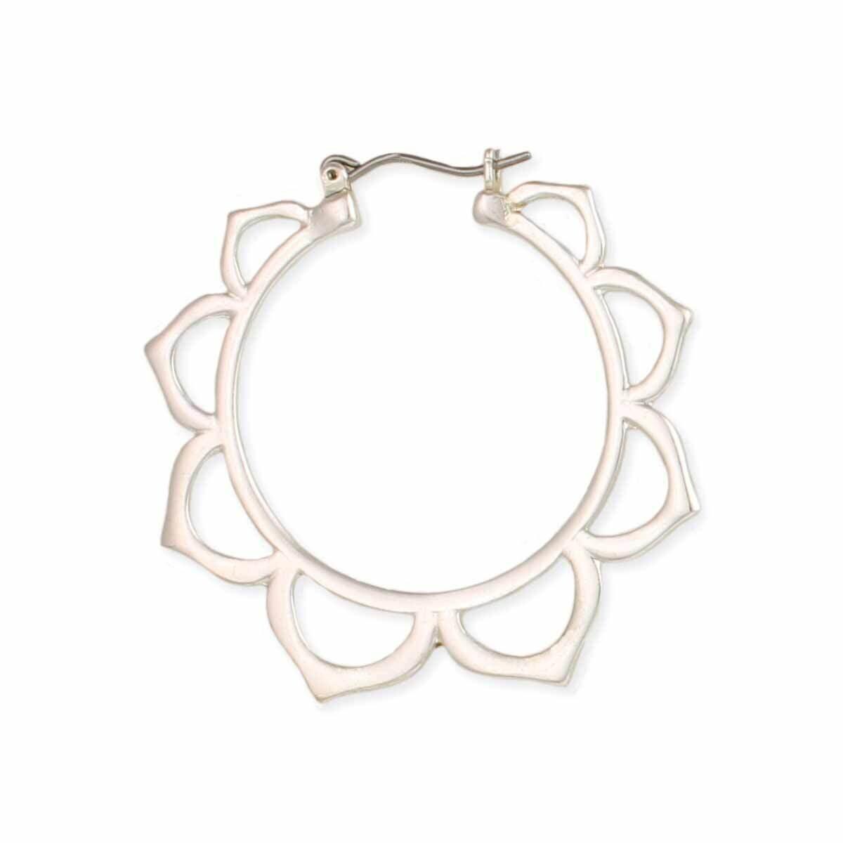 Lotus Hoop Earring