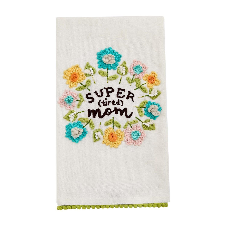 Super Mom Floral Towel
