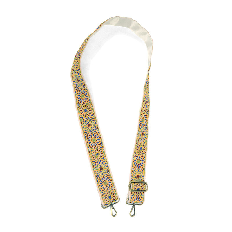 """2"""" Yellow Floral Guitar Strap"""
