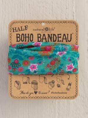 Green Floral Mandala Half Boho Bandeau