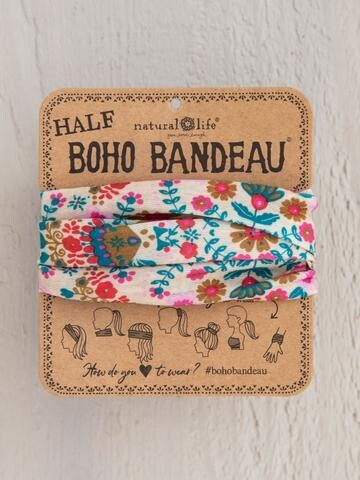 Cream Floral Mandala Half Boho Bandeau
