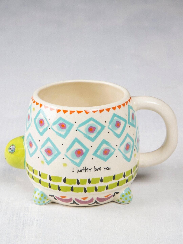 Myrtle The Turtle Folk Art Mug