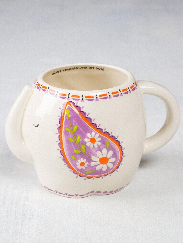 Edith The Elephant Folk Art Mug