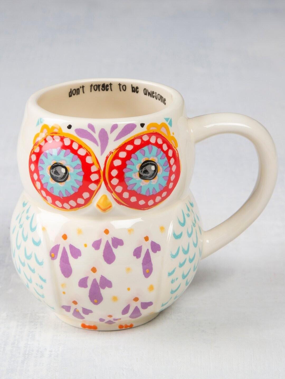 Elenor The Owl Folk Art Mug