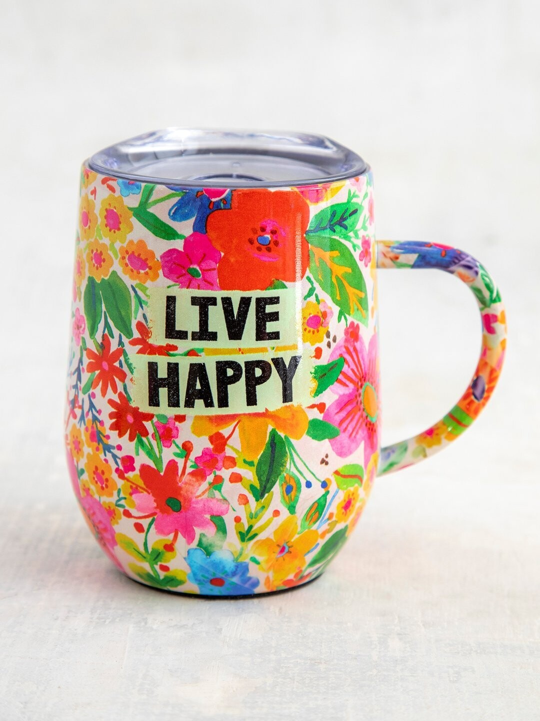 Live Happy Stainless Steel Coffee Tumbler