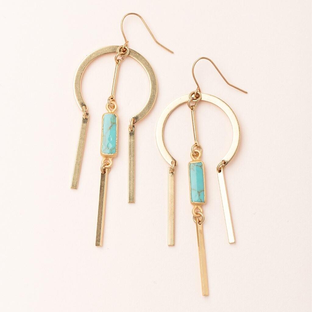 Dream Catcher Earrings - Turquoise