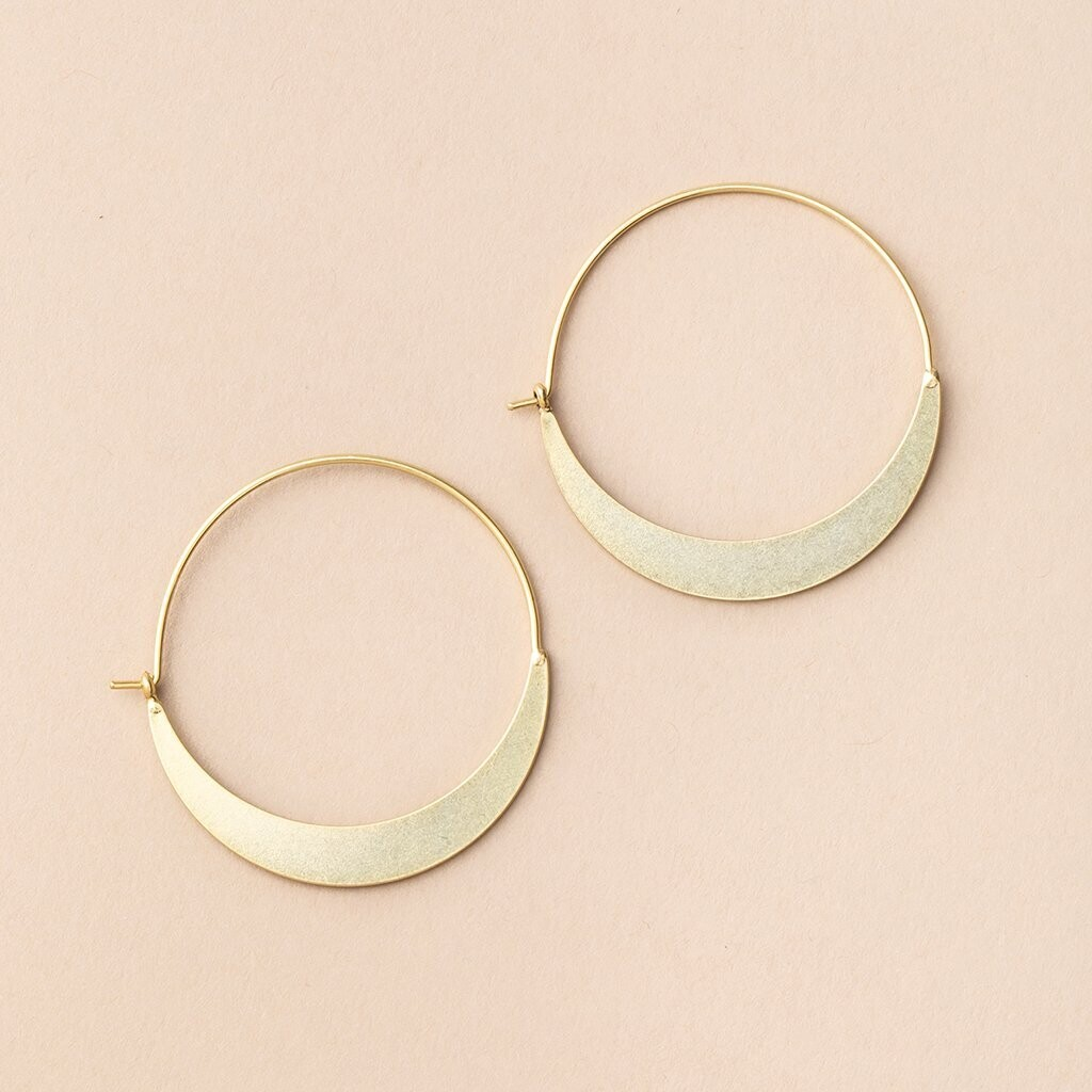 Refined Earring Collection - Crescent Hoop/Gold Vermeil
