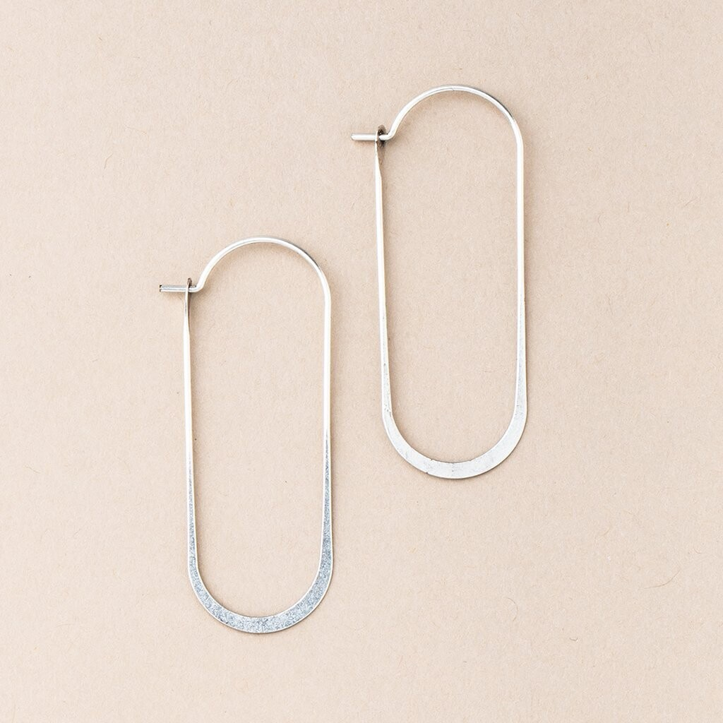 Refined Earring Collection - Cosmic Oval/Sterling Silver