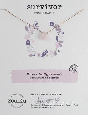 Survivor Rose Quartz Soul-Full Necklace